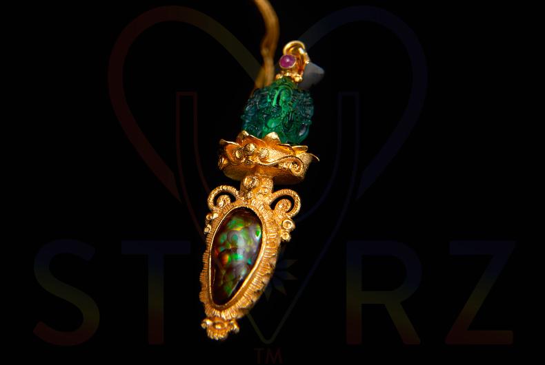 Emerald Fire Ganesha
