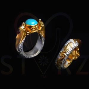 Twin Naya Heart Union Ring